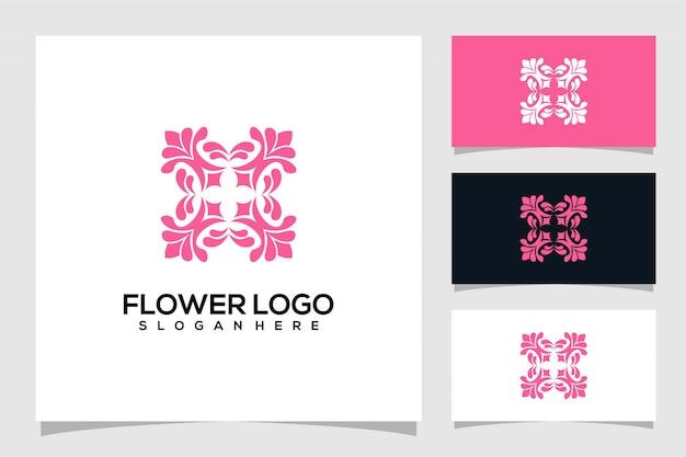 Streszczenie logo kwiatów