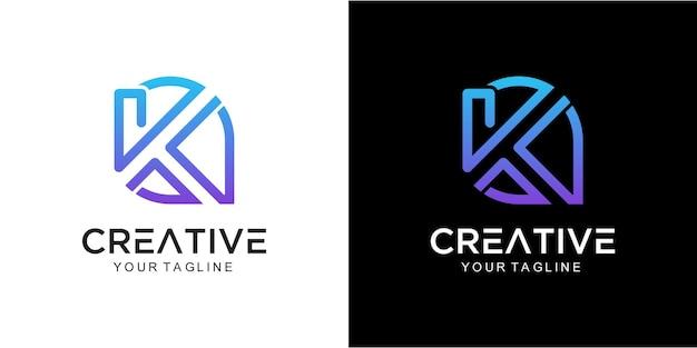 Streszczenie logo litery k