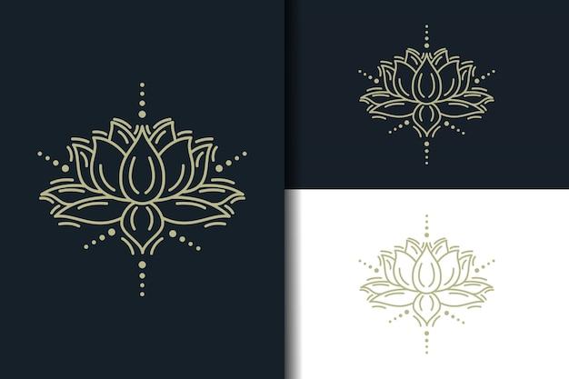 Streszczenie logo lotosu