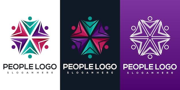 Streszczenie logo ludzi