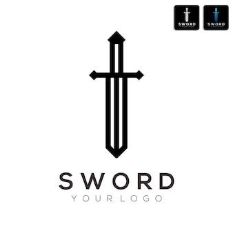Streszczenie logo miecza