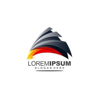 Streszczenie logo orła premium z trójkątem