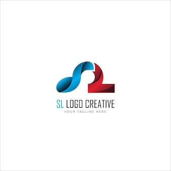 Streszczenie logo pierwsza litera sl