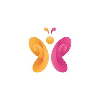 Streszczenie logo skrzydła motyla