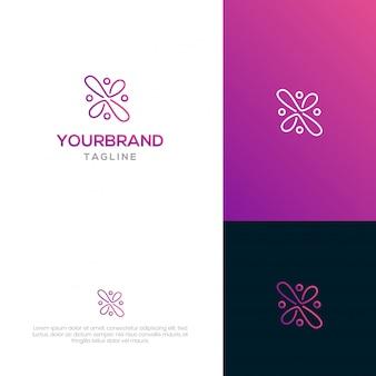 Streszczenie logo szablon