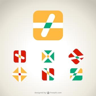 Streszczenie logo szablony