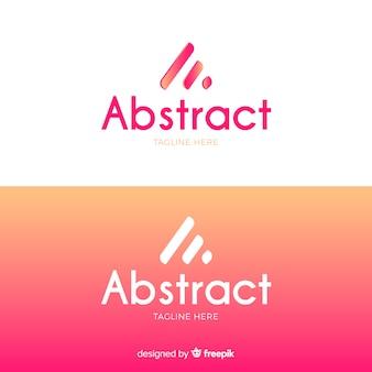 Streszczenie logo w stylu gradientu