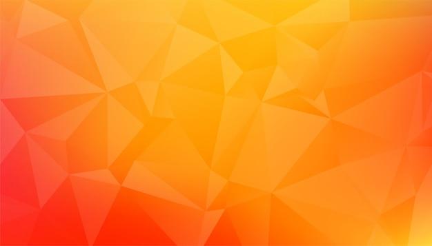 Streszczenie low poly pomarańczowo żółte tło
