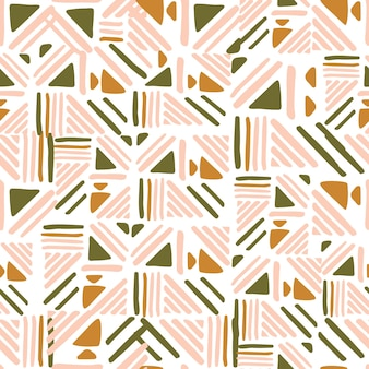 Streszczenie ludowy wzór na białym tle. ozdoba splotu linii. tło dla okładek tekstylnych lub książek, tapet, designu, grafiki, opakowania. ilustracja wektorowa