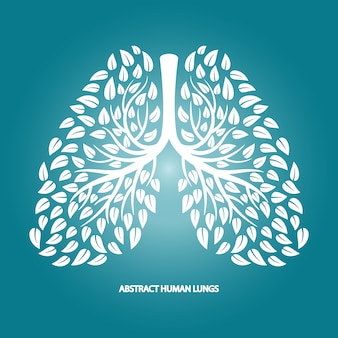 Streszczenie ludzkie płuca z liści
