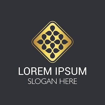 Streszczenie luksusowe elementy do projektowania logo.