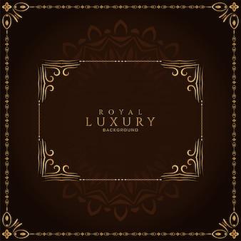 Streszczenie luksusowych ramek królewskich dekoracyjne tło