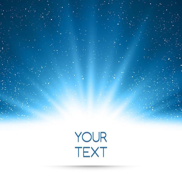Streszczenie magiczne niebieskie światło tło