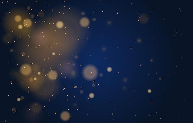 Streszczenie magiczne tło efekt światła bokeh.