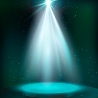Streszczenie magiczne tło światło. scena oświetlona magicznym światłem. wektor