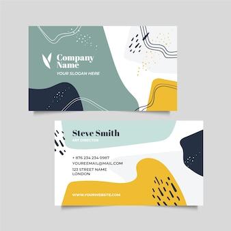 Streszczenie malowane karty firmowej w stylu memphis