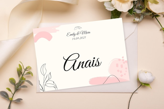 Streszczenie malowane monocolor wesele szablon karty miejsce