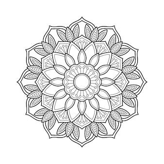 Streszczenie mandali arabeska kolorowanie ilustracji książki strony. podkoszulek . kwiatowy tapeta tło