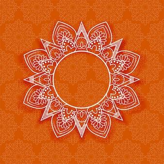 Streszczenie mandali kwiatowy tło