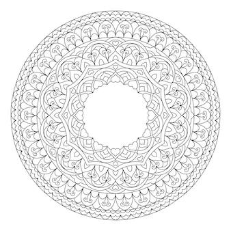 Streszczenie mandali kwiatowych. dekoracyjny element etniczny dla projektu.