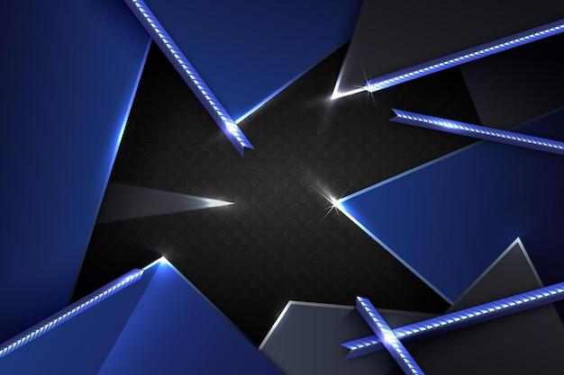 Streszczenie metaliczne niebieskie tło