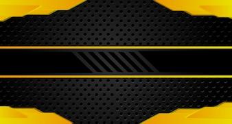 Streszczenie metaliczny żółty pomarańczowy czarny rama