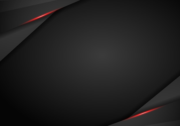 Streszczenie metaliczny czerwony czarny układ ramki
