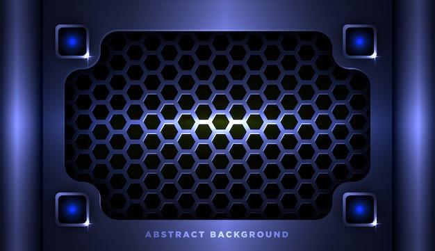 Streszczenie metaliczny niebieski geometryczne ramki sportowe tło