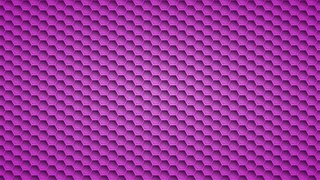 Streszczenie metalowe tło z sześciokątnymi otworami w fioletowych kolorach