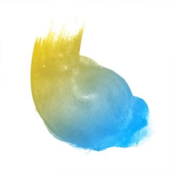 Streszczenie miękkie kolorowe akwarela splash