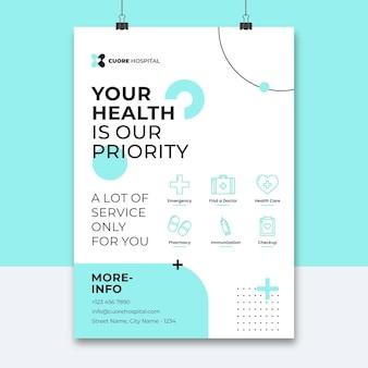 Streszczenie minimalistyczny plakat medyczny