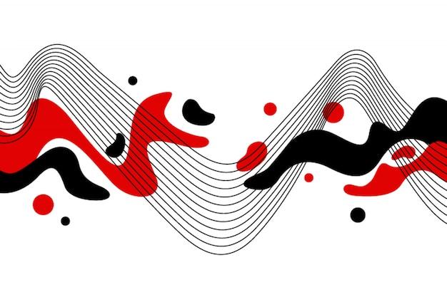 Streszczenie minimalistyczny przepływ płaski i pasek tła