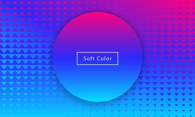 Streszczenie minimalne miękkie kolor dynamiczne tło gradientowe geometryczne, tapeta, plakat, element projektu. s graficzne kształty, koło, trójkąty, kompozycja układu cyfrowego. eps10 wektor.
