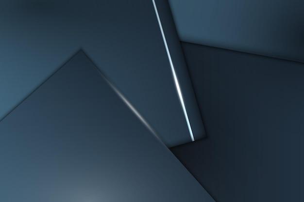 Streszczenie minimalne niebieskie geometryczne nakładające się warstwy tła. ilustracja wektorowa.