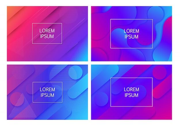 Streszczenie minimalny gradient kształtuje geometryczne tło. ilustracja