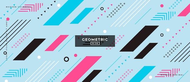 Streszczenie modne obiekty geometryczne gradientowy baner