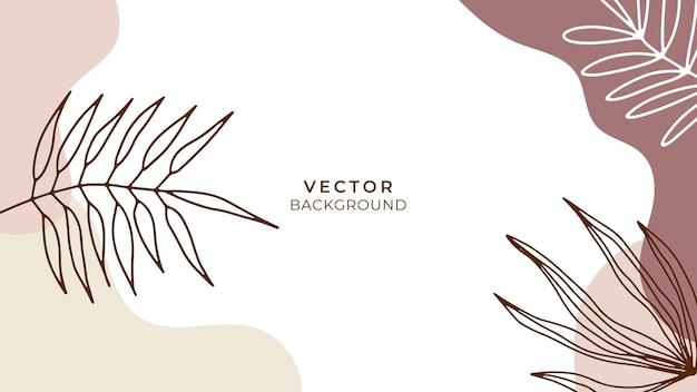 Streszczenie modne uniwersalne szablony tła artystycznego z kwiatowymi, liśćmi, organicznymi, ręcznie rysowanymi i liniami. dobry na okładkę, zaproszenie, baner, afisz, broszurę, plakat, kartę, ulotkę i inne