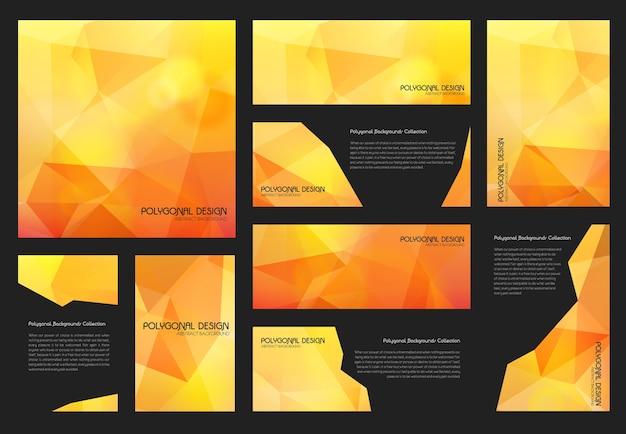 Streszczenie modne wielokątne teksturowane tło broszury szablony biznesowe