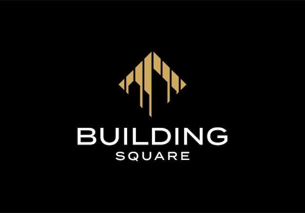 Streszczenie monogram budynku logo ikona inspiracja szablon projektu
