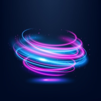Streszczenie multicolor wirowa linia światła