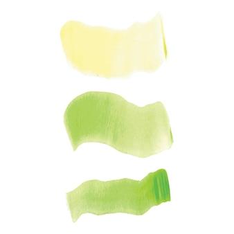 Streszczenie na białym tle kolorowy wektor akwarela plama. element do projektowania papieru, ad. jasne kolory na białym tle. rysunki z copyspace, plamy pędzli. minimalistyczny.
