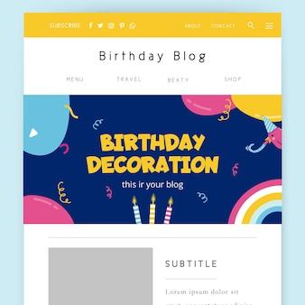 Streszczenie nagłówka bloga na temat urodzin dziecka