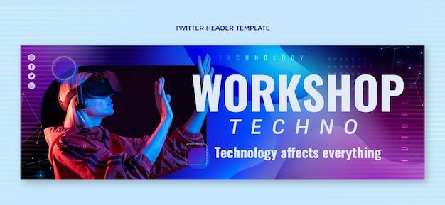 Streszczenie nagłówka twittera technologii płynów