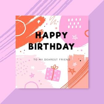 Streszczenie namalowany urodzinowy post na facebooku