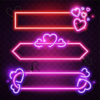 Streszczenie neon z motywem miłości.