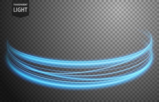 Streszczenie niebieska falista linia światła