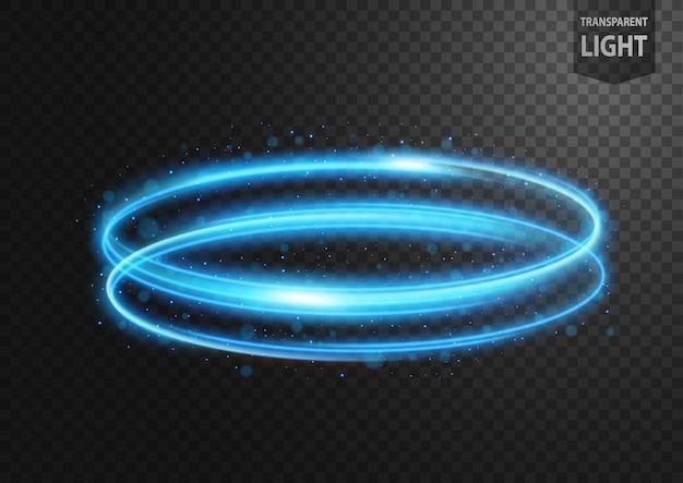 Streszczenie niebieska linia światła z niebieskim iskry