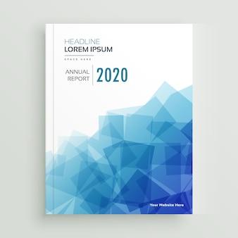 Streszczenie niebieski biznes broszura roczny raport projektu strony