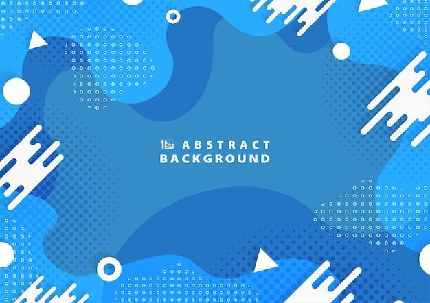Streszczenie niebieski falisty projekt nowoczesnego szablonu