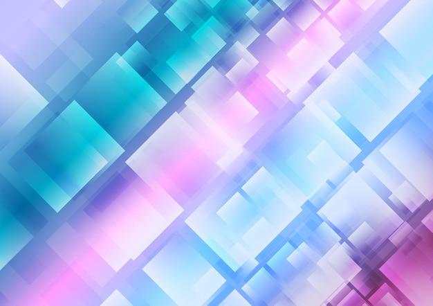 Streszczenie niebieski fioletowy kwadraty tło. projekt wektorowy